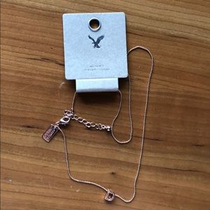 "NWT Dainty Rose Gold ""D"" Inital Necklace"
